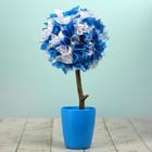 Топиарий «Фантазия», бело-голубой, ручная работа, 25 см, микс