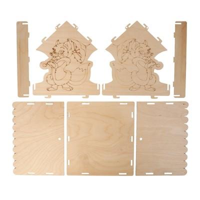 Кормушка для птиц «Лисичка с зонтиком», 24 × 24 × 27 см