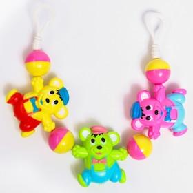 Растяжка на коляску/кроватку «Забавные зверята», 3 игрушки, виды МИКС