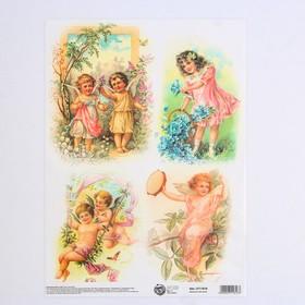 Декупажная карта «Ангелочки», 21 × 29,7 см