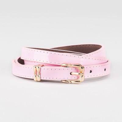 Waist belt for women, width 1.4 cm, buckle gold, 2 lines,color pink