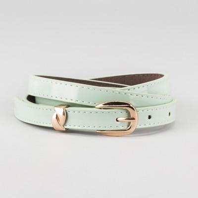 Waist belt for women, width 1.4 cm, buckle gold, 2 lines, color mint