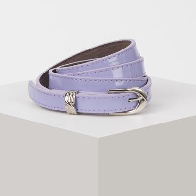 Waist belt for women, width 1.4 cm, buckle metal, 2 lines, color lilac