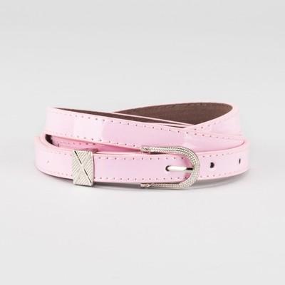Waist belt for women, width 1.4 cm, buckle metal, 2 lines, color pink