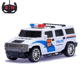 Джип радиоуправляемый 'Полиция', масштаб 1:18, работает от батареек, МИКС Ош