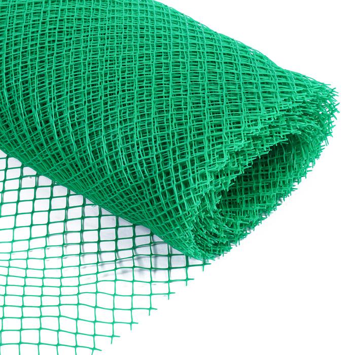 Сетка садовая, 0.5 × 20 м, ячейка 1.5 × 1.5 см, зелёная