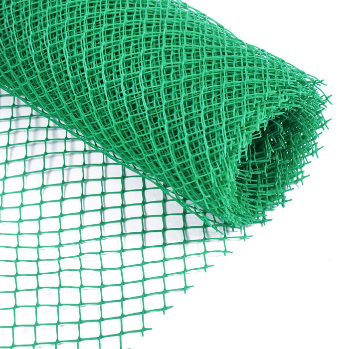 Сетка садовая, 0.5 × 10 м, ячейка 1.5 × 1.5 см, зелёная