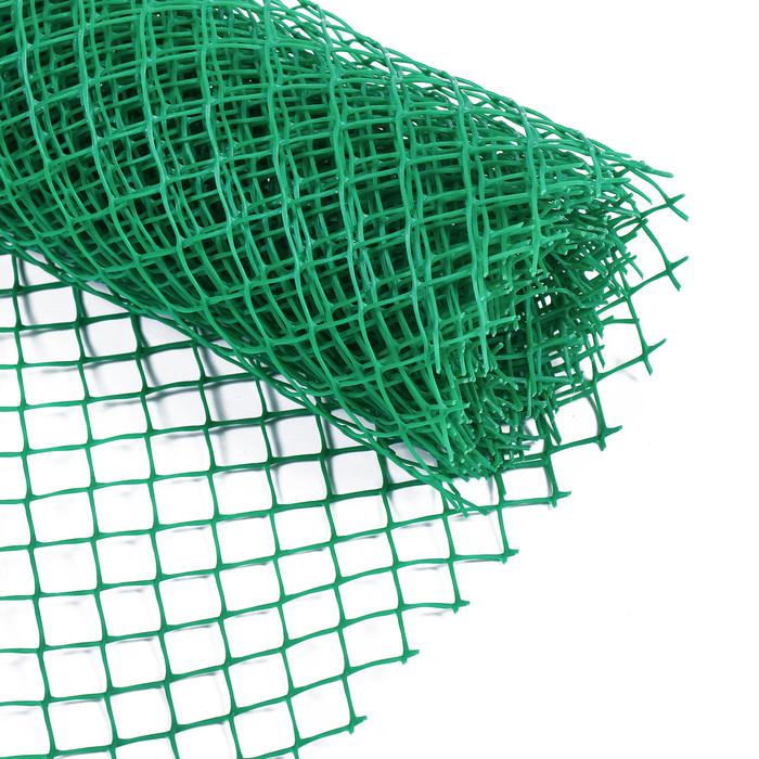 Сетка садовая, 0.5 × 5 м, ячейка 1.5 × 1.5 см, зелёная