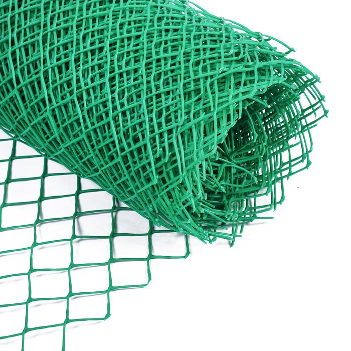 Сетка садовая, 0.5 × 20 м, ячейка 4 × 4 см, зелёная