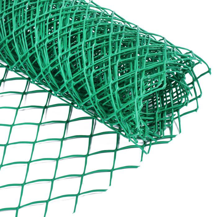 Сетка садовая, 0.5 × 5 м, ячейка 4 × 4 см, зелёная