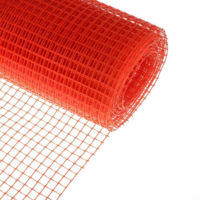 Сетка садовая, 1 × 10 м, ячейка 1.5 × 1.5 см, оранжевая