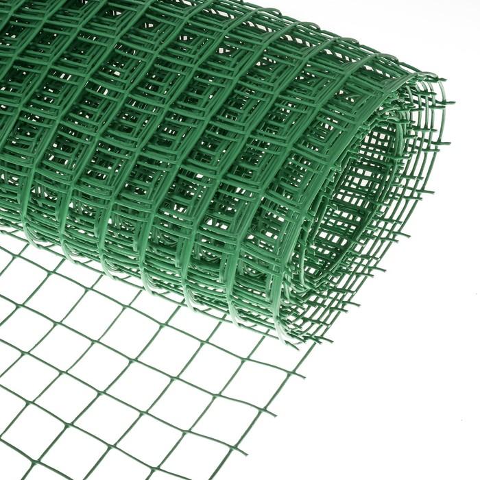 Сетка садовая, 1 × 10 м, ячейка 5 × 5 см, зелёная