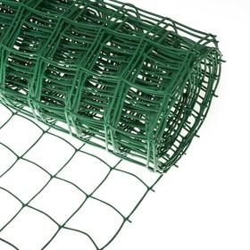 Сетка садовая, 1 × 10 м, ячейка 8.3 × 8.3 см, зелёная