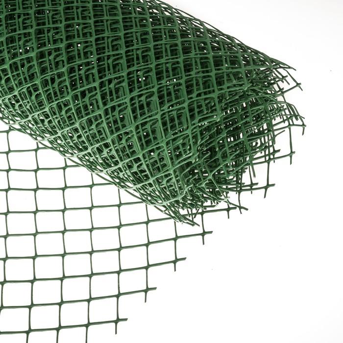 Сетка садовая, 1.5 × 10 м, ячейка 4 × 4 см, зелёная