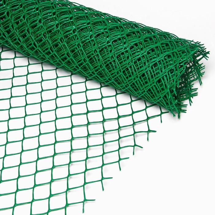 Сетка садовая, 2 × 10 м, ячейка 5 × 5 см, зелёная