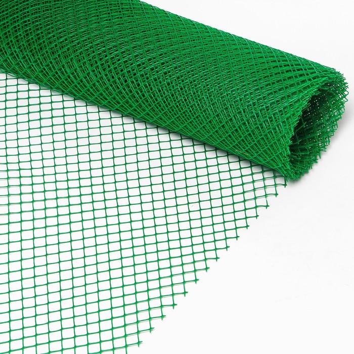 Сетка садовая, 2 × 10 м, ячейка 1,5 × 1,5 см, зелёная