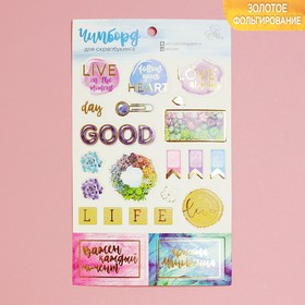 Chipboard die cut for scrapbooking with the same style, Follow your heart, 12 x 20 cm
