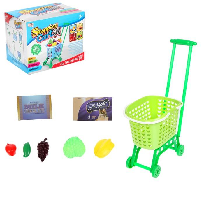"""Игровой набор """"Шоппинг Карт"""" тележка-корзинка с продуктами"""