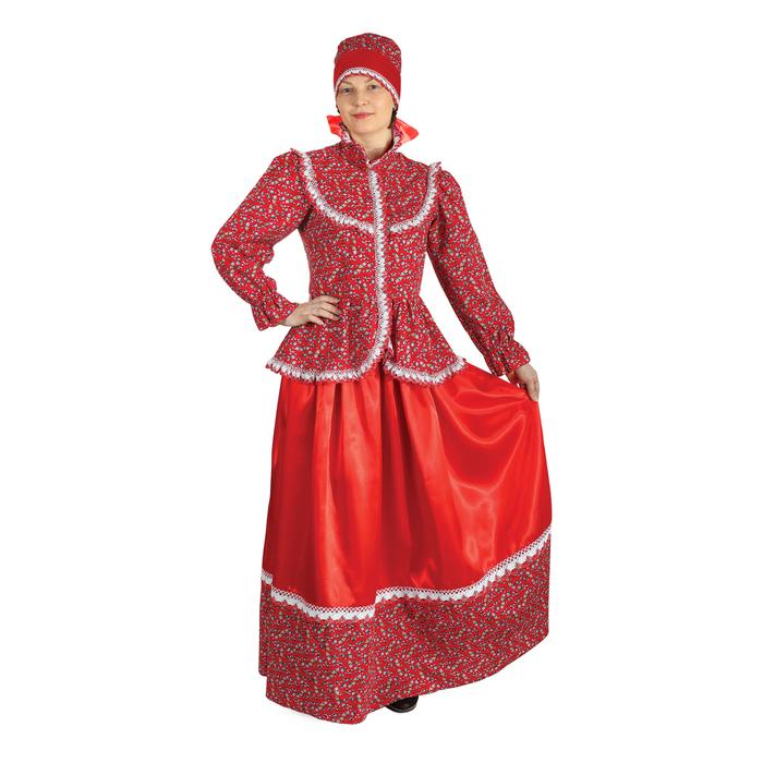 """Русский народный женский костюм """"Забава"""", головной убор, блуза, юбка, р-р 44 - фото 685224723"""