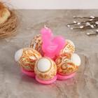 """Свеча-подставка для 5 яиц """"Золотой петушок"""""""