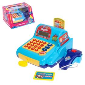 """Касса-калькулятор """"Поиграем в магазин-3"""" с аксессуарами, световые и звуковые эффекты"""