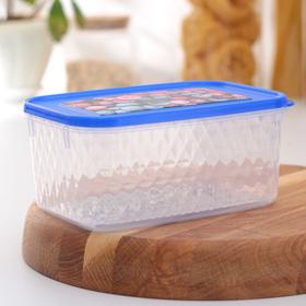 Контейнер для замораживания и хранения продуктов phibo «Кристалл», 1,3 л, с декором, цвет МИКС