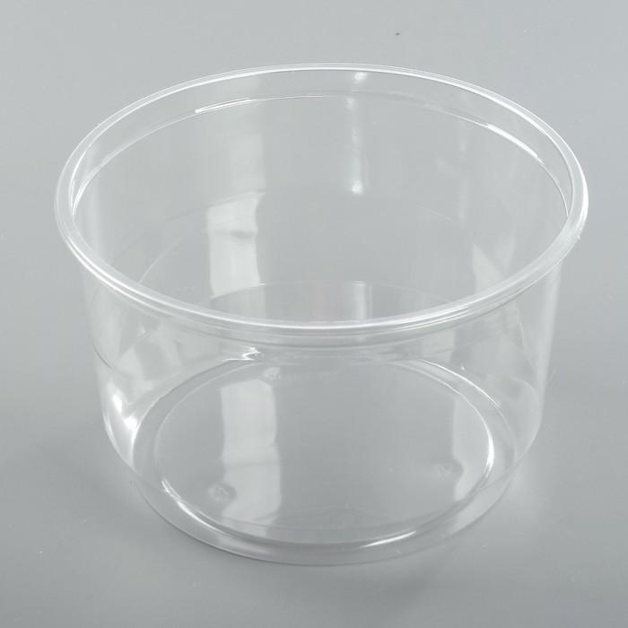 Крышка к контейнеру ПР-Т-163, круглая, прозрачная 19.8 х 11.4 см