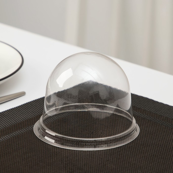 Крышка к контейнеру ПР-Т-85К, круглая, прозрачная, 11х8,2 см, 390 шт/уп - фото 308009686