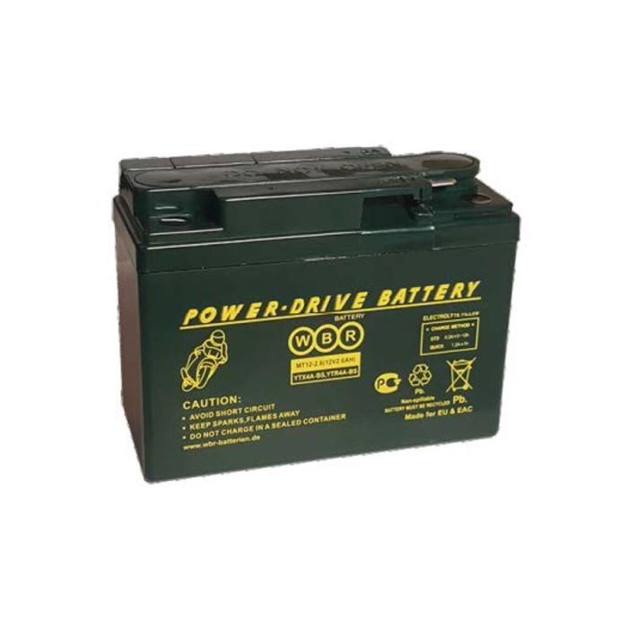 Аккумуляторная батарея WBR 2,6Ач боковая полярность MT12-2.6 YTX4A-BS