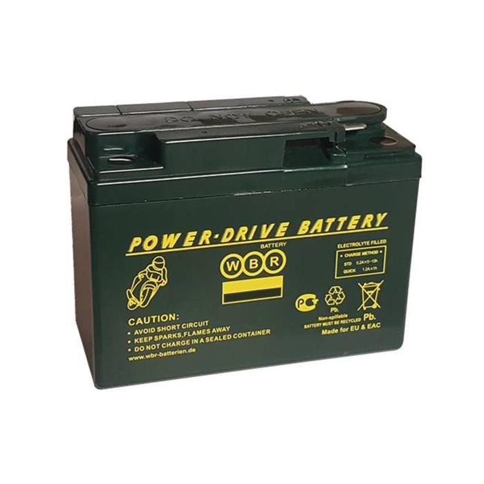 Аккумуляторная батарея WBR 2,3Ач боковая полярность MTG 12-2,3 GT4B-5(GEL),YTX4B-BS