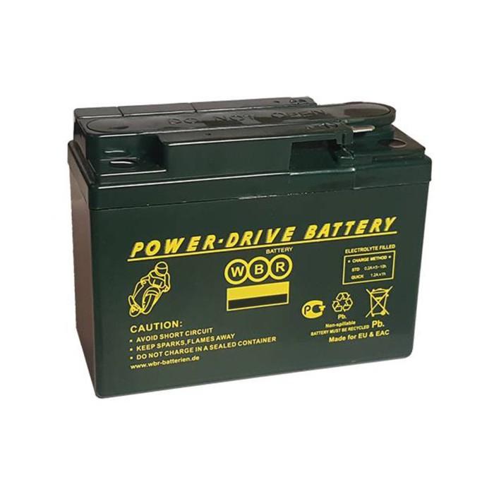 Аккумуляторная батарея WBR 2,3Ач боковая полярность MTG 12-2,4 YTR4A-BS(GEL),YTX4A-BS