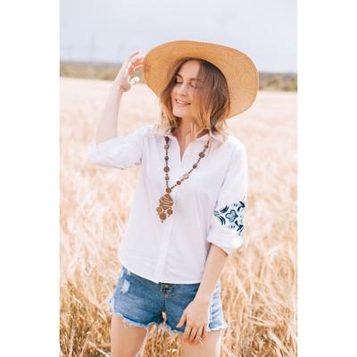 Блузка женская 7226-7 цвет белый, р-р 48, рост 170