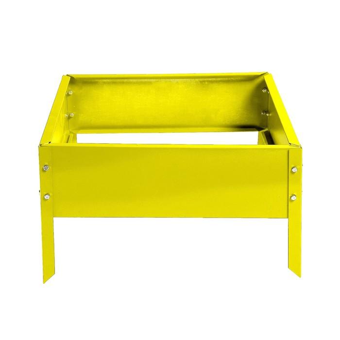 Клумба, 50 × 50 × 15 см, жёлтая, Greengo