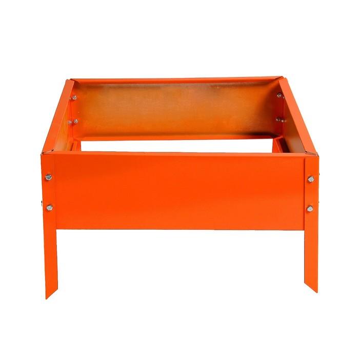 Клумба, 50 × 50 × 15 см, оранжевая, Greengo