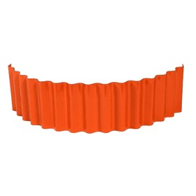 Ограждение для клумбы, 110 × 24 см, оранжевое, «Волна»