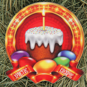 """Magnet the tree of a single layer of color """"Candle cake"""" 8х7,7 cm"""