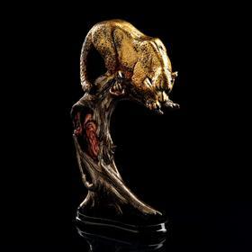 "Сувенир ""Леопард на дереве"" 42 см, бронзовый цвет, микс"