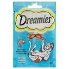 Лакомство Dreamies для кошек, с лососем, 30 г
