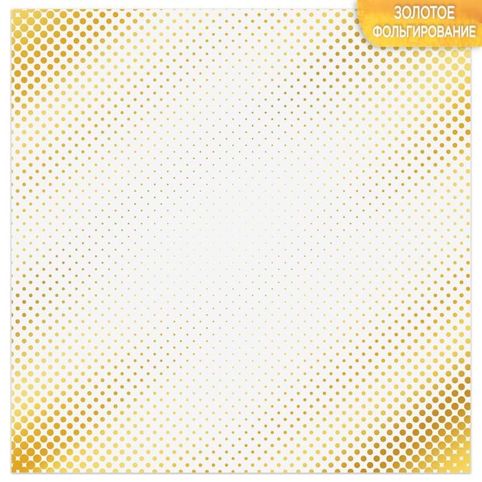 Бумага для скрапбукинга с фольгированием «Мгновение», 10 листов, 30.5 × 30.5 см, 250 г/м