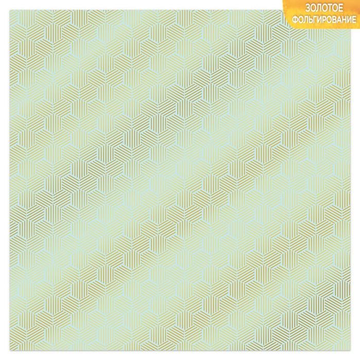 Бумага для скрапбукинга с фольгированием «Соты», 10 листов, 30.5 × 30.5 см, 250 г/м