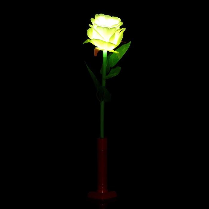 """Палочка световая """"Роза"""", цвет белый"""