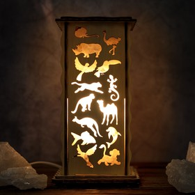 Соляной светильник 'Животные', 20 х 12 см, деревянный декор Ош