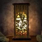 """Соляной светильник """"Индейцы"""", 20 х 12 см, деревянный декор"""
