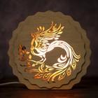"Соляной светильник ""Жар-птица"", 16 x 15 х 6 см, деревянный декор"