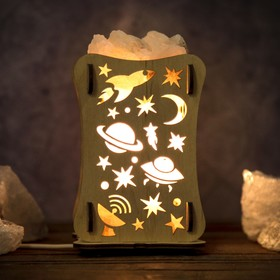 Соляная лампа 'Космос' 9,5 см × 9,5 см × 16,5 см Ош