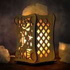 """Соляной светильник """"Рыбы"""", 9 х 14 см, деревянный декор"""