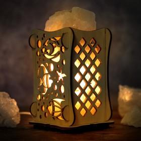 Соляной светильник 'Рыбы', 9 х 14 см, деревянный декор Ош
