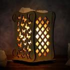 """Соляной светильник """"Бабочки"""", 9 х 14 см, деревянный декор"""