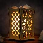 """Соляной светильник """"Цветы"""", 9 х 14 см, деревянный декор"""