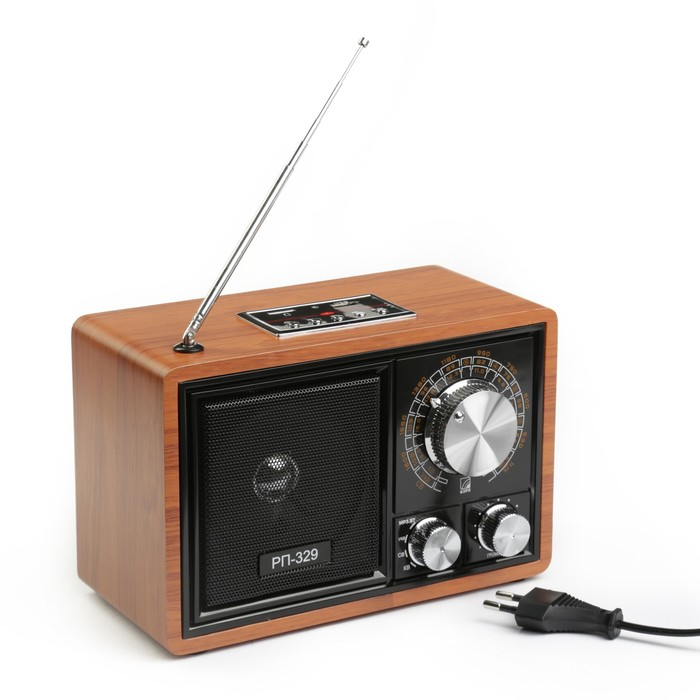 "Радиоприемник ""БЗРП РП-329"", УКВ 64-108МГц,US, microSD, AUX, BT"